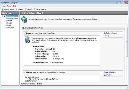 Download SQL Cloud Backup Free for Windows   Freeware