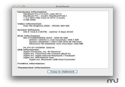 Download Etrecheck Mac | Freeware