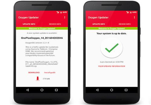 Oxygen Updater Android