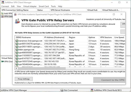 Download SoftEther VPN and VPN Gate Client VPN GATE CLIENT