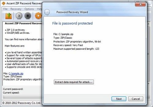 Download Accent ZIP Password Recovery for Windows | Demo